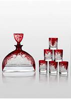 Набор для водки Bohemia Prestige Nemo Ruby (6+1). Мужской набор