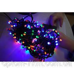 Гирлянда LED Диодная 200 ламп черный провод am