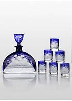 Набор для водки Bohemia Prestige Nemo Cobalt (6+1). Мужской набор