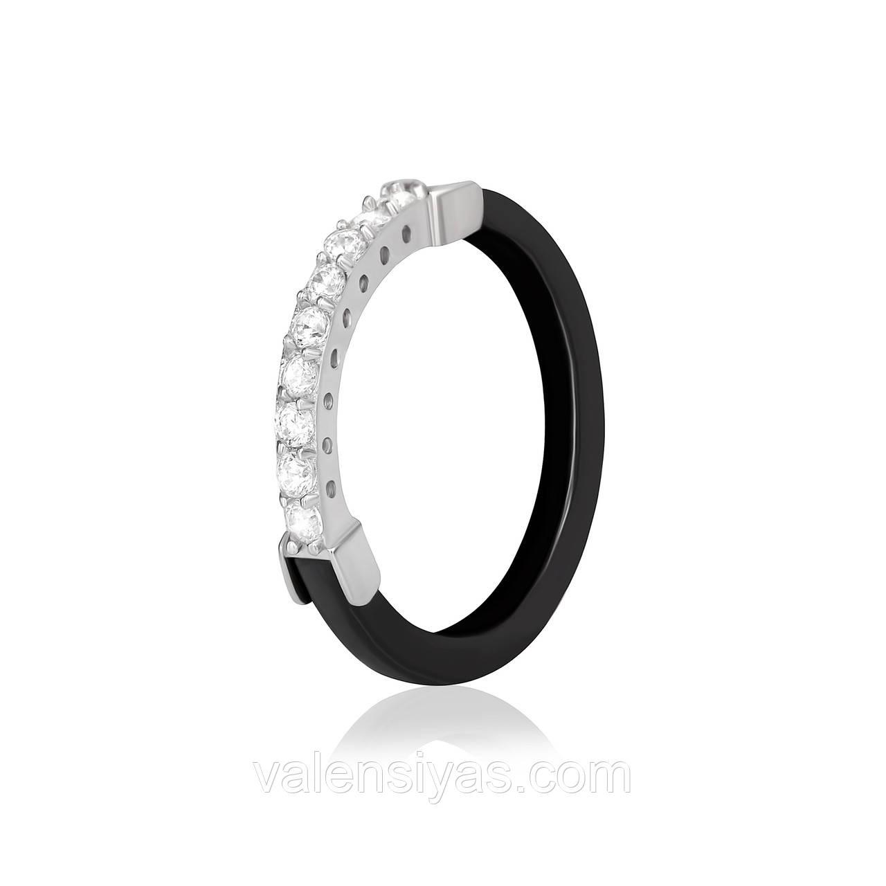 Срібне кільце з керамікою К2ФК/1014