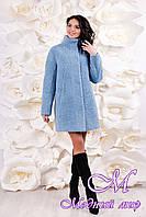 Теплое женское зимнее пальто (р. 44-54) арт. 1055 Тон 206