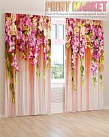 Фото шторы нежно розовые цветы