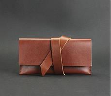 Чехол для смартфона натуральная кожа коричневый (ручная работа)