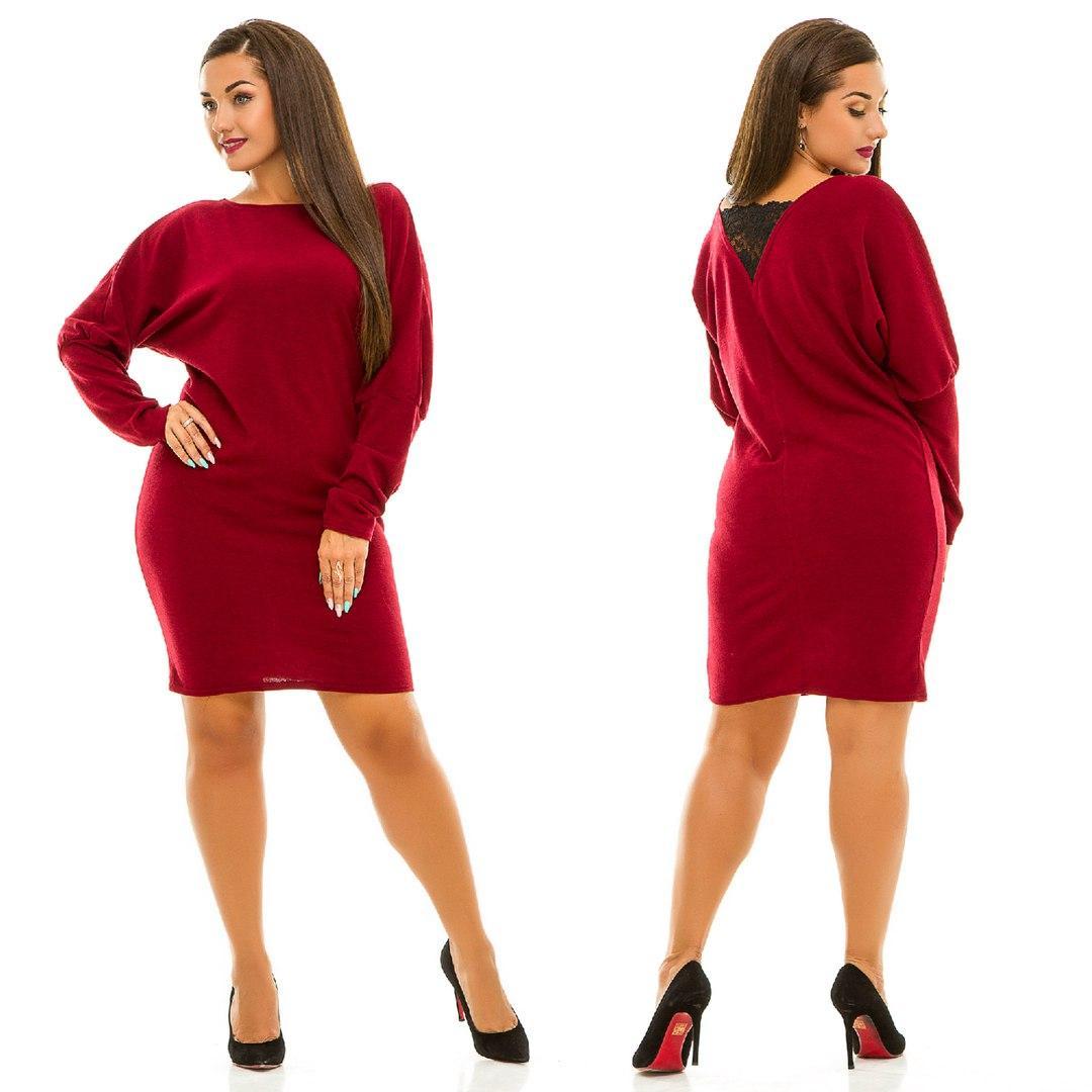 Платье на спинке кружево в расцветках 30564  Интернет-магазин модной  женской одежды оптом и в розницу . Самые низкие цены в Украине. платья  женские от