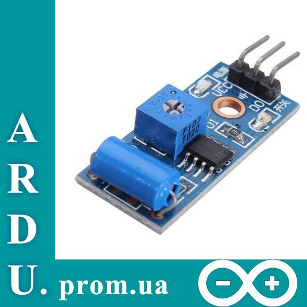 Датчик наклона, вибрации SW-420, Arduino [#3-6]