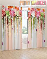 Фото шторы цветы 3D