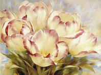 Алмазная вышивка без коробки MyArt Мраморные тюльпаны 40 х 30 см (арт. MA643)