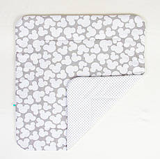 Дитяче бавовняну ковдру BabySoon Міккі сірий 80 х 85 см (272)