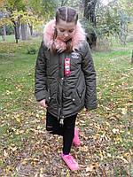 Детская Модная Зимняя парка шанель копия