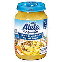 Alete für Genießer  Bio Menü Kartoffel-Gemüse-Püree...- картофело-овощное пюре с мясным фарш с 6-го мес. 190 г