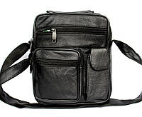 Мужская кожаная сумка - барсетка