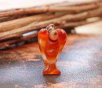 "Кулон ""Ангел"" Сердолик натуральный камень (3,5х2,2х1 см)"