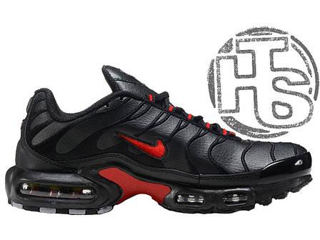 Мужские кроссовки реплика Nike Air Max TN+ Leather Black/Red, фото 2