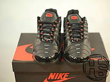 Мужские кроссовки реплика Nike Air Max TN+ Leather Black/Red, фото 3
