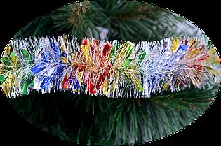 Мишура новогодняя 50 мм Yes! Fun Праздничная разноцветная 2 метра  980113