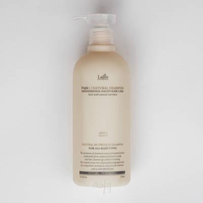 Безсульфатный органический шампунь LA' DOR TRIPLEX NATURAL SHAMPOO, 530ml