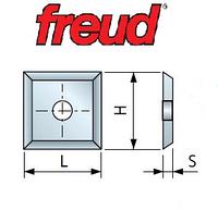 Ножи твердосплавные сменные 12х12х1,5 мм для обработки древесных материалов (Freud)