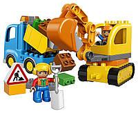 Конструктор LEGO DUPLO Оригинал Грузовик и гусеничный экскаватор Лего