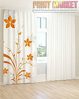 Фото шторы горчично-желтые цветы