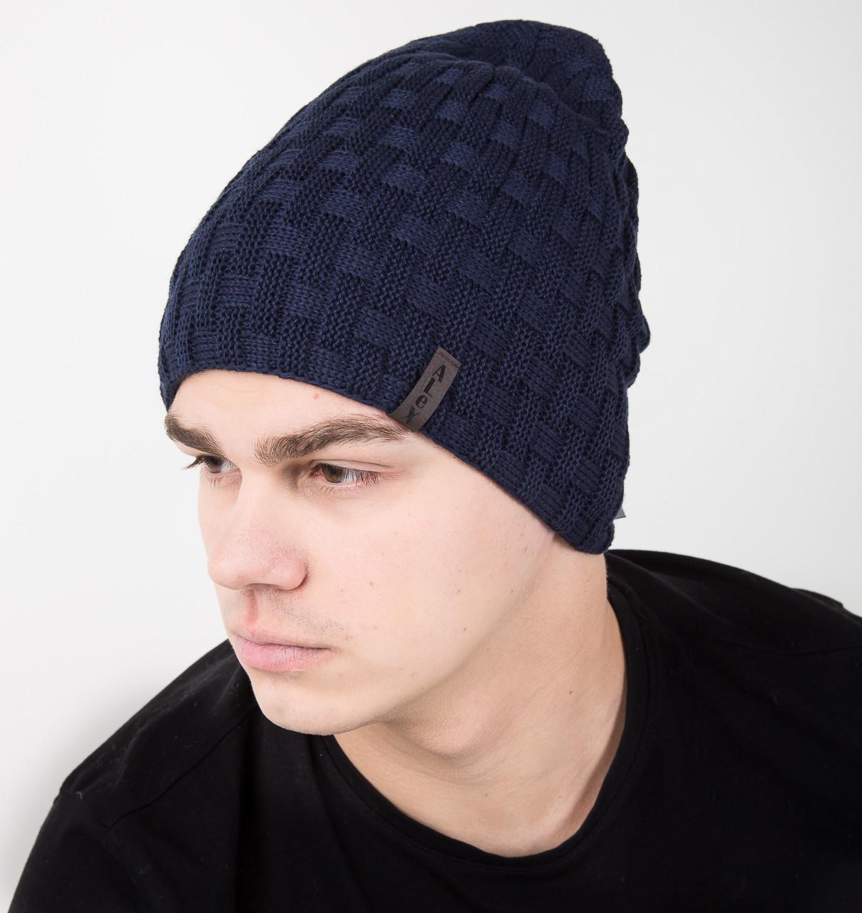Мужская шапка чулок двусторонняя на флисе - Артикул AL17027(o)