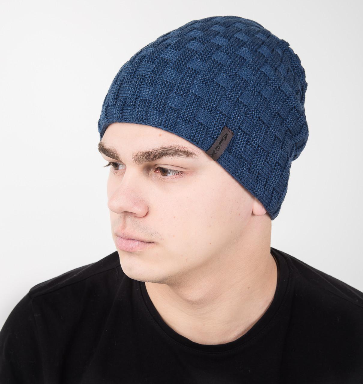 Новинка сезона 2018 мужская шапка на флисе на 2 стороны - Артикул AL17027