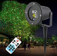 Светодиодный уличный лазерный проектор для деревьев и зданий красный с зеленым