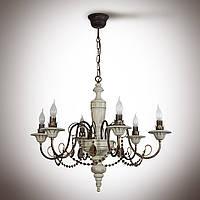Люстра 6-ти ламповая с хрусталем 10206