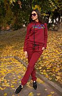 Костюм женский Gucci очень теплый на флисе свитшот с капюшоном и брюки трехнитка разные цвета Df706