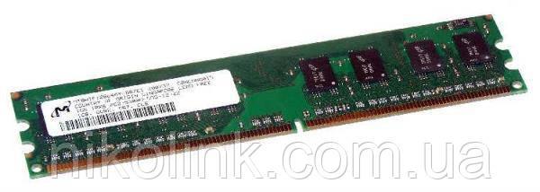 Память Micron DDR2 1GB PC2-5300U (667Mhz) (MT8HTF12864AY-667E1)(8x1) комиссионный товар