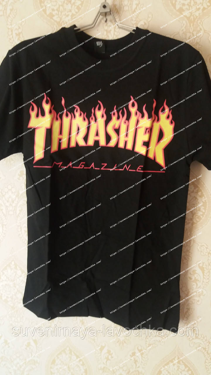Thrasher Футболка  Трешер black