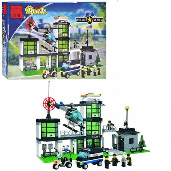 Конструктор BRICK 110/208883 полицейский участок, транспорт, фигурки,