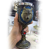 Кубок 3D ретро Белый Волк Игра престолов Game of Thrones