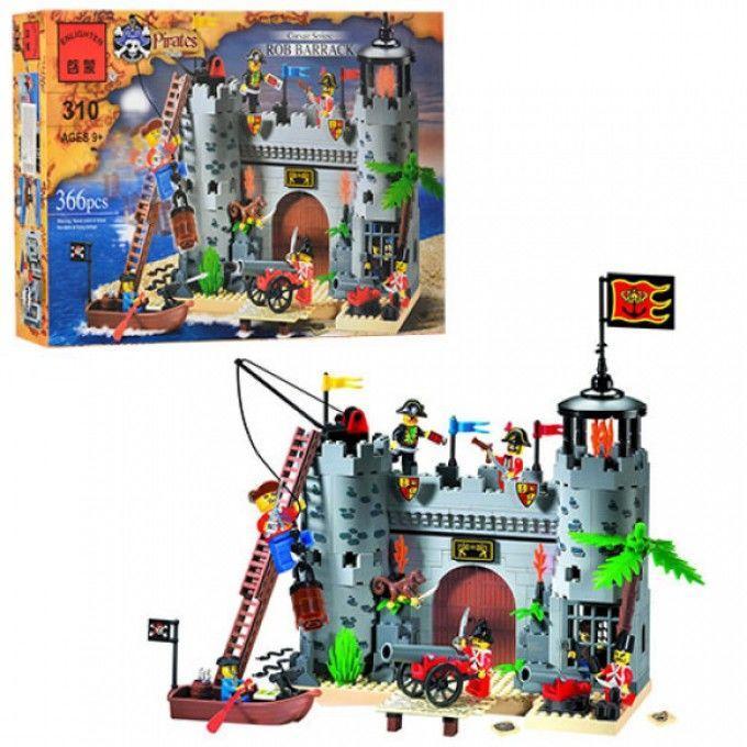 Конструктор BRICK 310 замок пиратов, фигурки 7шт, 366дет, в кор-к