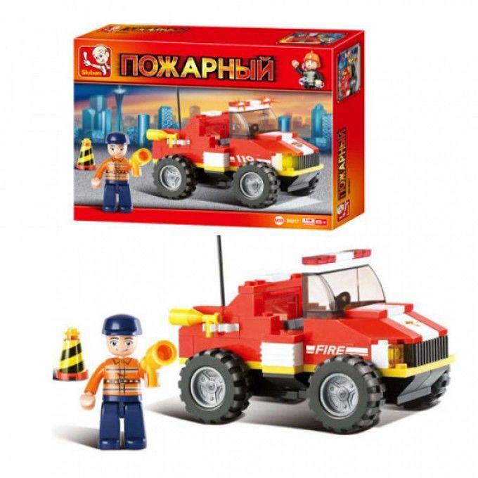 Конструктор SLUBAN M38 B 0217 R  пожарная техника, 118 дет, в кор-ке