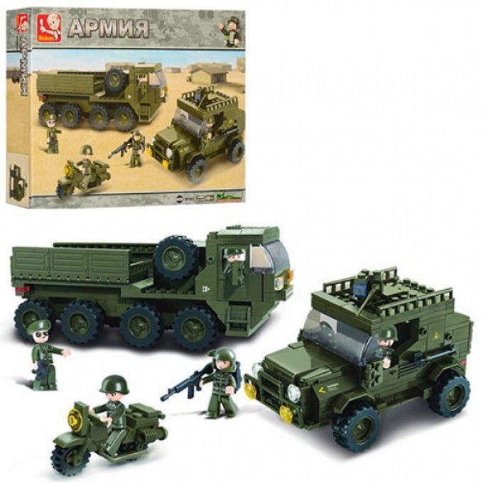 Конструктор SLUBAN M38-B0307 армия,военная техника,фигурки,455дет,в ко