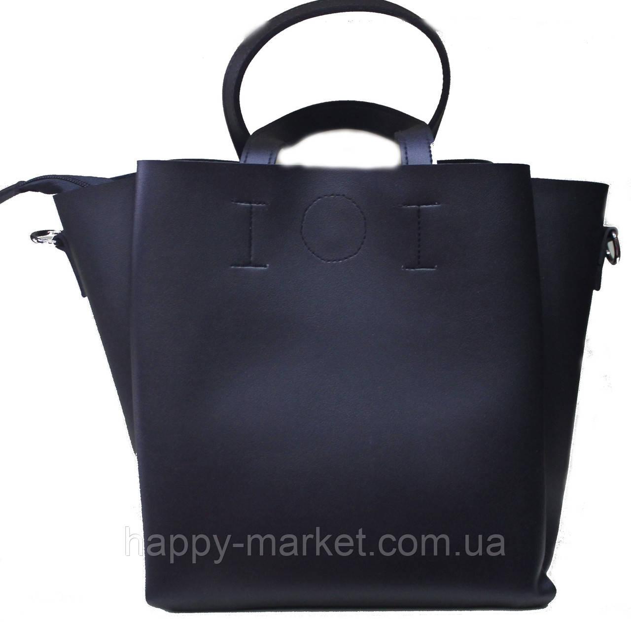 b587185777c9 Сумка торба женская гладкая без узоров и принтов 18-016-1 Экко - Интернет
