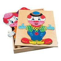 Пазл Bino Гардероб клоуна (88001)