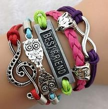 Кожаный браслет «Best Friends» 20 см