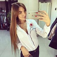Блузка белая с розой