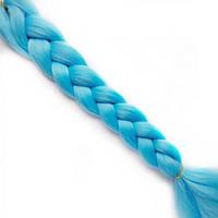 Однотонные канекалоновые косички-искусственные волосы из канекалона, боксерские косички, boxer braids Голубые