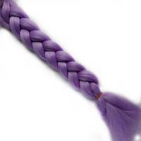 Однотонные канекалоновые косички-искусственные волосы из канекалона, боксерские косички, boxer braids Сиреневы, фото 1
