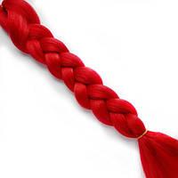 Однотонные канекалоновые косички-искусственные волосы из канекалона, боксерские косички, boxer braids Красные