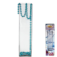 Ваза стеклянная декоративная  h 50.5см,10*10 см