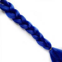 Однотонные канекалоновые косички-искусственные волосы из канекалона, боксерские косички, boxer braids Синий
