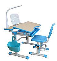 Парта трансформер увеличенная  и стул, лампа, подставка, 2 цвета