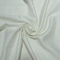 Сатин однотонный кремовый (мягкий белый), ширина 220 см
