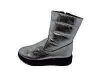 Женские ботинки зимние кожаные Dion Richi Stael 212 Silver