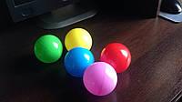 Шарики цветные пластиковые 7см для сухих бассейнов, игровых комнат, игровых центров 100шт/упаковка