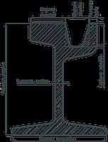 Рельc трамвайный (желобчатый)