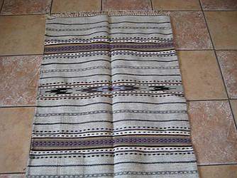 Невелика шерстяна коврова доріжка ручної роботи сірий-беж